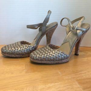 Michael Michael Kors gold heels size 8.5